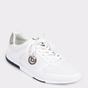 Pantofi sport BUGATTI albi, 73201, din piele ecologica