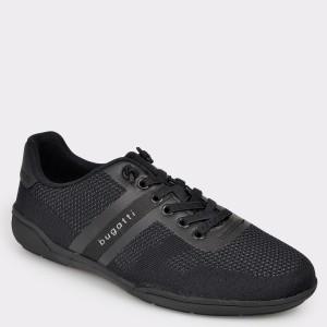 Pantofi sport BUGATTI negri, 46504, din material textil