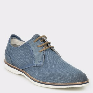 Pantofi Bugatti Albastri, 67102, Din Material Textil