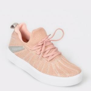 Pantofi sport BUGATTI roz, 40766, din material textil