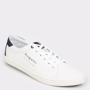 Pantofi sport BUGATTI albi, 71903, din material textil