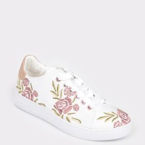 Pantofi sport BUGATTI albi, 29105, din material textil