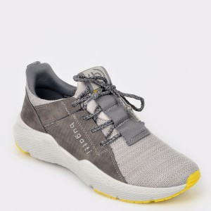 Pantofi sport BUGATTI gri, 73061, din material textil