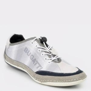 Pantofi BUGATTI gri, 48007, din material textil