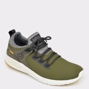 Pantofi sport BUGATTI kaki, 65860, din material textil