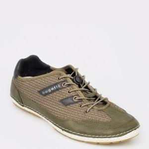 Pantofi sport BUGATTI kaki, 73301, din material textil