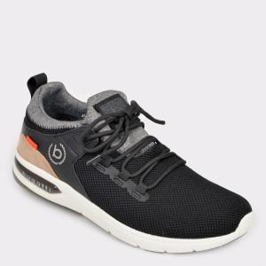Pantofi sport BUGATTI negri, 65860, din material textil
