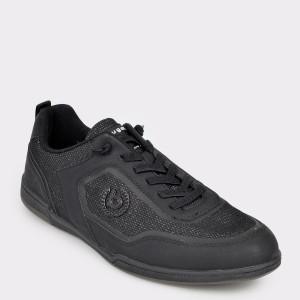 Pantofi sport BUGATTI negri, 72602, din material textil
