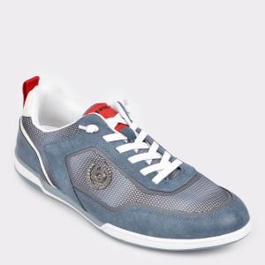 Pantofi sport BUGATTI albastri, 72602, din material textil
