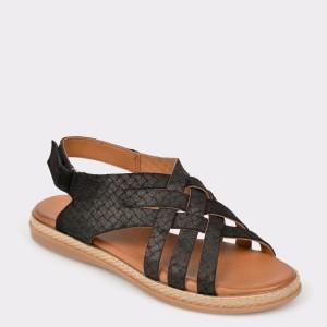 Sandale FLAVIA PASSINI negre 122 din piele intoarsa