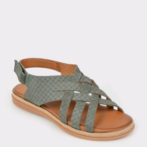 Sandale FLAVIA PASSINI kaki, 122, din piele intoarsa