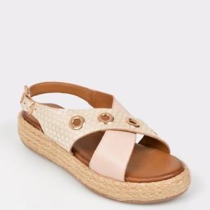 Sandale FLAVIA PASSINI aurii, 115, din piele naturala