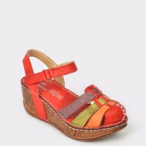Sandale FLAVIA PASSINI rosii, din piele naturala