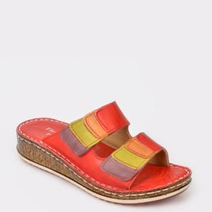 Papuci FLAVIA PASSINI rosii, din piele naturala