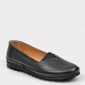 Pantofi Flavia Passini Negri, 82536, Din Piele Naturala