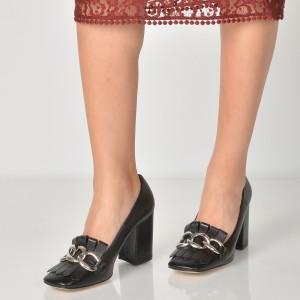Pantofi EPICA negri, 1400, din piele naturala