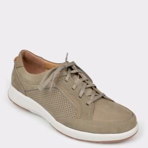 Pantofi CLARKS gri, Untrafo, din nabuc
