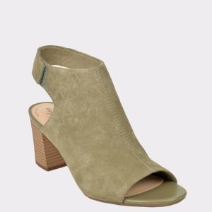 Sandale CLARKS verzi, Devabel, din piele intoarsa