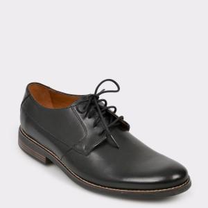 Pantofi CLARKS negri, Beckpla, din piele naturala