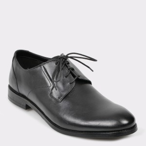 Pantofi CLARKS negri, Edwapla, din piele naturala
