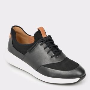 Pantofi sport CLARKS negri, Unriola, din piele naturala