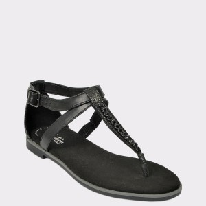 Sandale CLARKS negre, Baypopp, din piele naturala