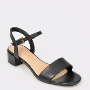Sandale CLARKS negre, Orabiri, din piele naturala