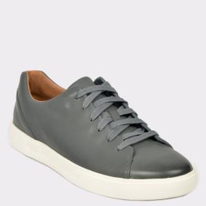 Pantofi CLARKS gri, Uncosla, din piele naturala