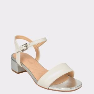 Sandale CLARKS albe, Orabiri, din piele naturala