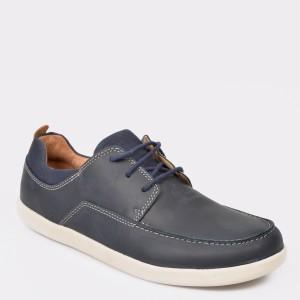 Pantofi CLARKS bleumarin, din piele naturala