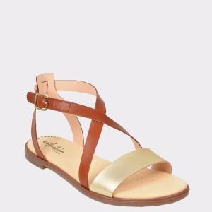 Sandale CLARKS maro, Bayrosi, din piele naturala