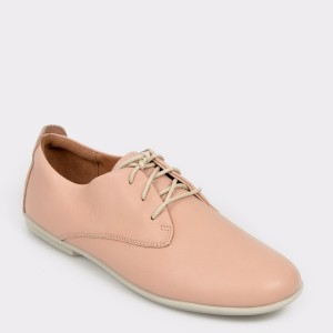 Pantofi CLARKS nude, Uncorla, din piele naturala
