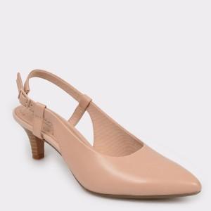 Pantofi Clarks Nude, Linvale Loop, Din Piele Naturala