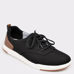 Pantofi CLARKS negri, Steiscr, din material textil