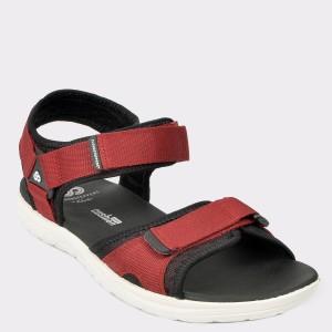 Sandale CLARKS rosii, Stebesu, din material textil