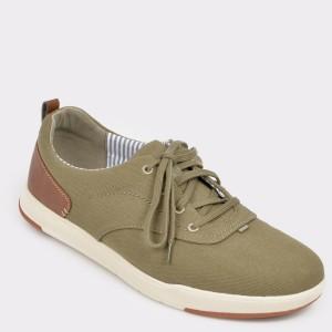 Pantofi CLARKS gri, Steiscr, din material textil