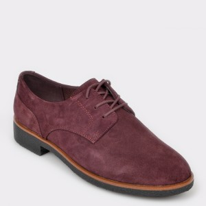 Pantofi Clarks Visinii, Griffin Lane, Din Piele Intoarsa