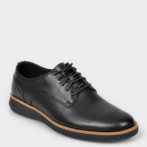 Pantofi CLARKS negri, Fairford Run, din piele naturala