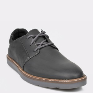 Pantofi CLARKS negri, Grandin Plain, din piele naturala