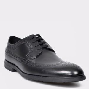 Pantofi CLARKS negri, Ronnie Limit, din piele naturala