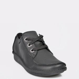 Pantofi Clarks Negri, Funndre, Din Piele Naturala
