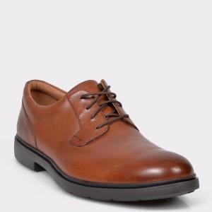 Pantofi CLARKS maro, Un Tailor Tie, din piele naturala