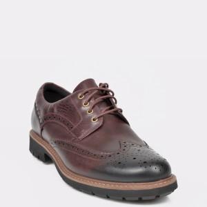 Pantofi CLARKS visinii, BATCWIN, din piele naturala