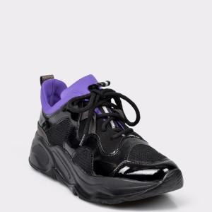 Pantofi sport Flavia Passini negri, 4200, din piele ecologica