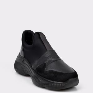 Pantofi Sport Flavia Passini Negri, 4204, Din Piele Ecologica