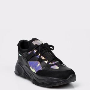 Pantofi sport FLAVIA PASSINI negri, 4246, din piele ecologica