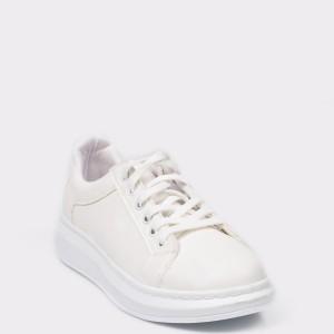 Pantofi sport Flavia Passini albi, 4230, din piele ecologica