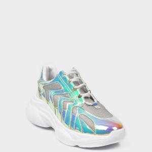 Pantofi sport FLAVIA PASSINI argintii, 4280, din piele ecologica