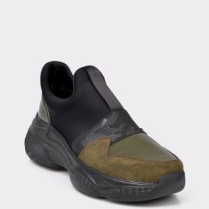 Pantofi Sport Flavia Passini Kaki, 4204, Din Piele Ecologica