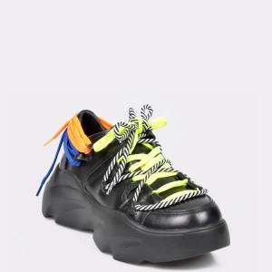 Pantofi Sport Flavia Passini Negri, M1090d, Din Piele Naturala